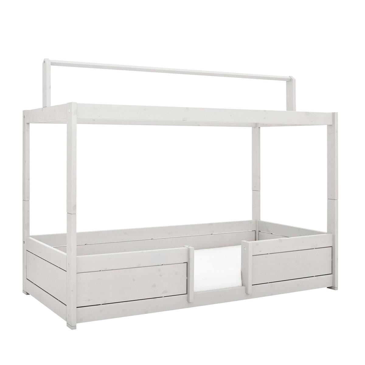 Lifetime 4 in Bett mit Dachkonstruktion in whitewash