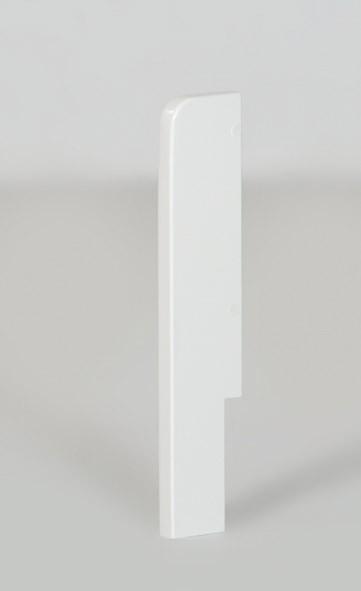 Montagepfosten in weiß