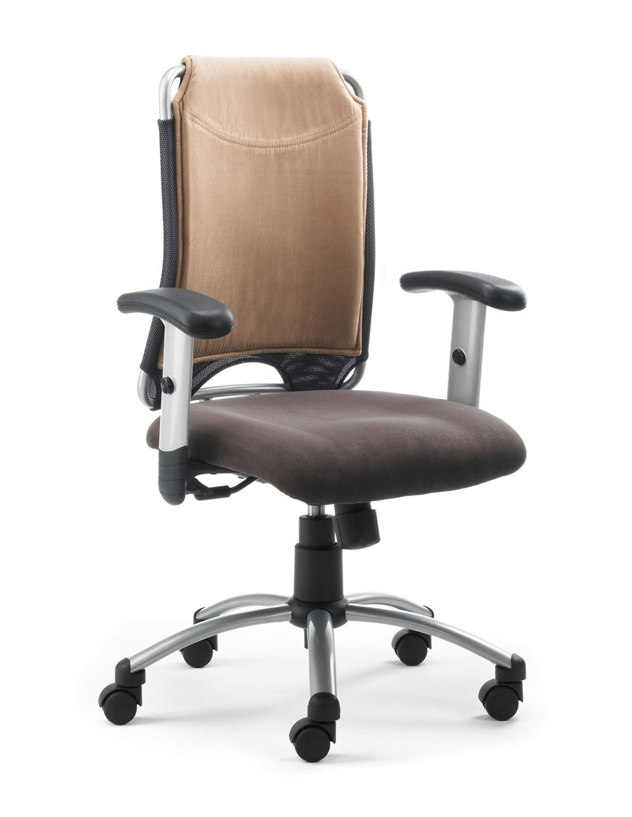 Drehstuhl Spirit 2275, Farbbeispiel braun / beige (Dieses Angebot ohne Armlehnen, leider gibt es keine Bilder ohne Armlehnen)