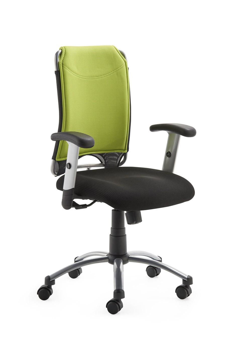 Drehstuhl Spirit 2275, Farbbeispiel schwarz / grün (Dieses Angebot ohne Armlehnen, leider gibt es keine Bilder ohne Armlehnen)