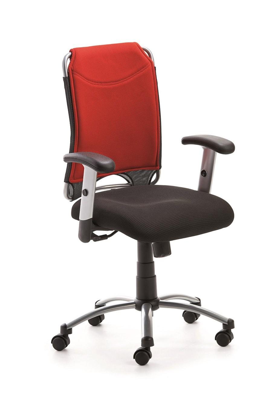 Drehstuhl Spirit 2275, Farbbeispiel schwarz / rot (Dieses Angebot ohne Armlehnen, leider gibt es keine Bilder ohne Armlehnen)
