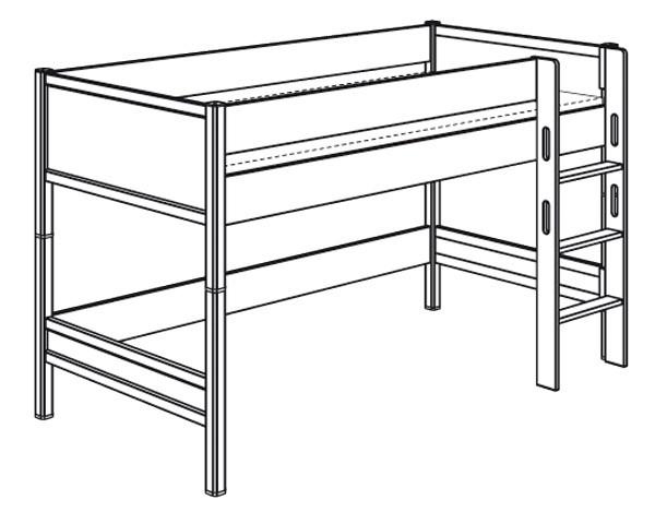 Spielbett mit gerader Leiter