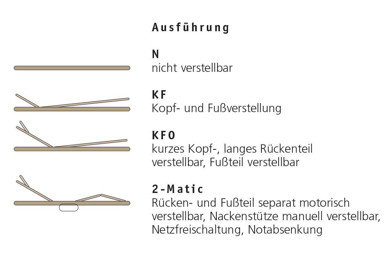 Die diversen Arten des Lattenrostes FR 5.