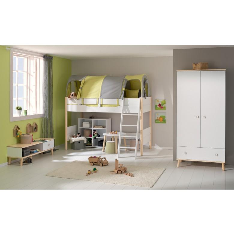 neu paidi ylvie kleiderschrank zweit rig mit schublade wei birke jetzt im wallenfels. Black Bedroom Furniture Sets. Home Design Ideas