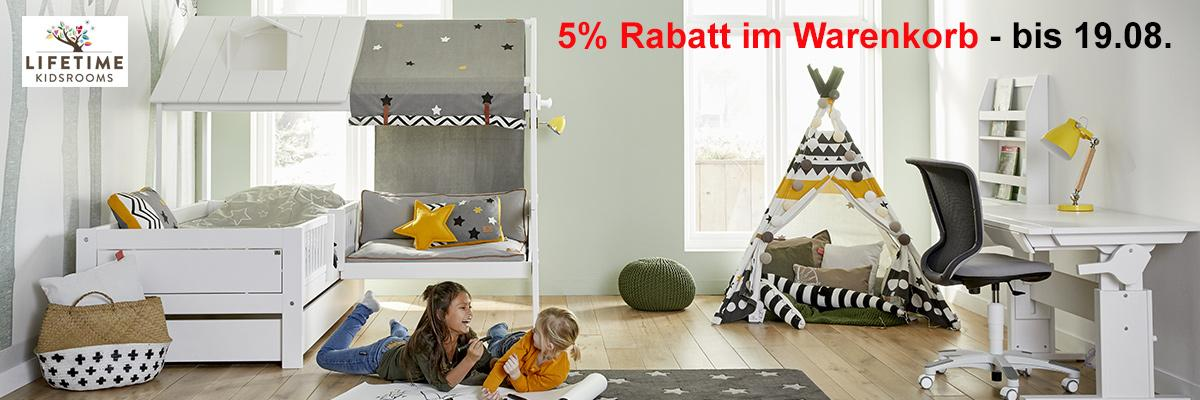 Lifetime Aktion 5% Rabatt bis 19.08.